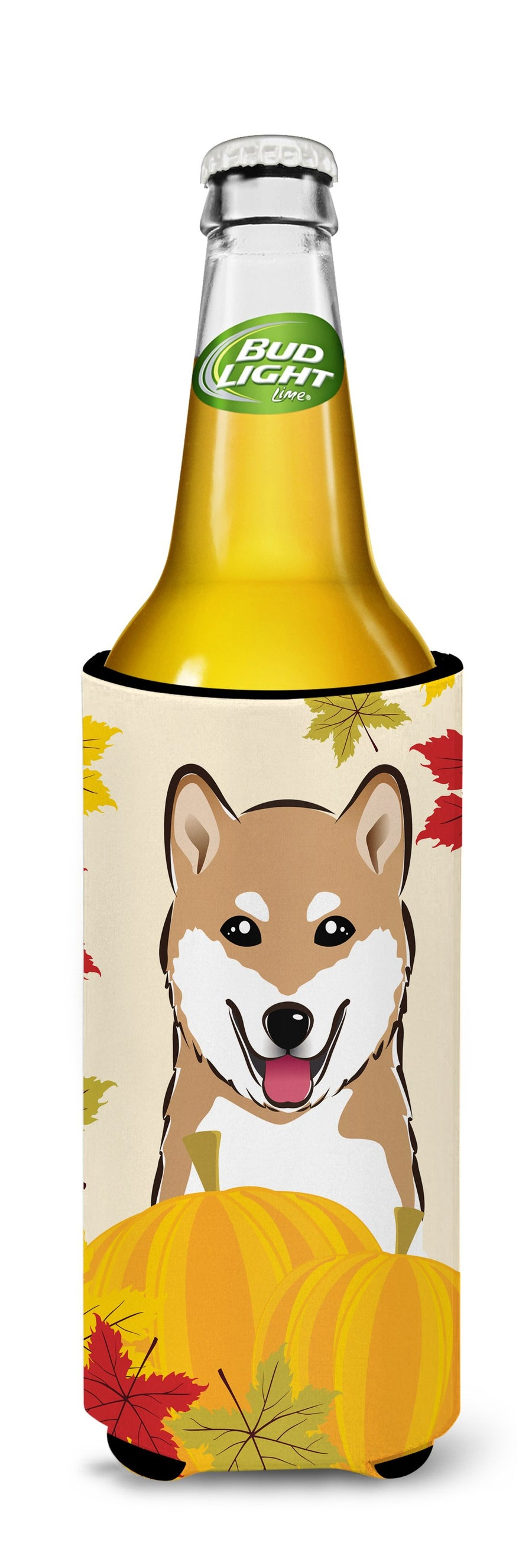 Buy this Shiba Inu Thanksgiving Michelob Ultra beverage Insulator for slim cans