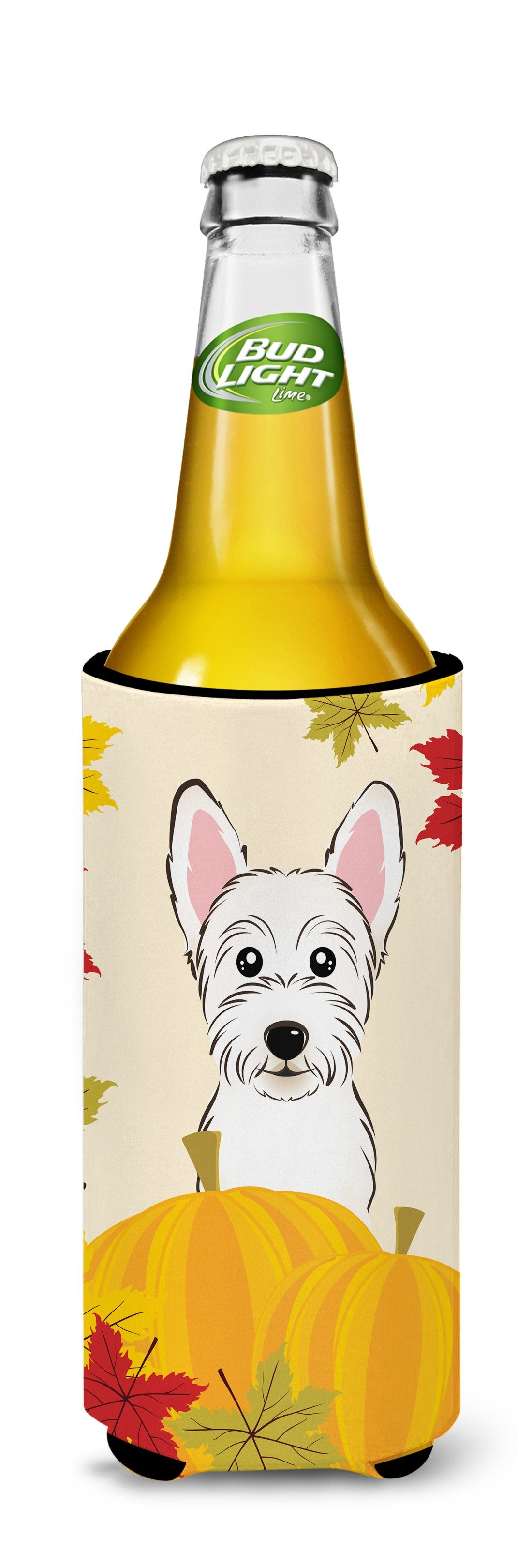 Westie Thanksgiving Michelob Ultra beverage Insulator for slim cans BB2032MUK by Caroline's Treasures