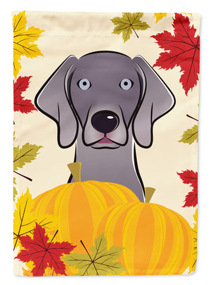 Buy this Weimaraner Thanksgiving Flag Canvas House Size BB2037CHF