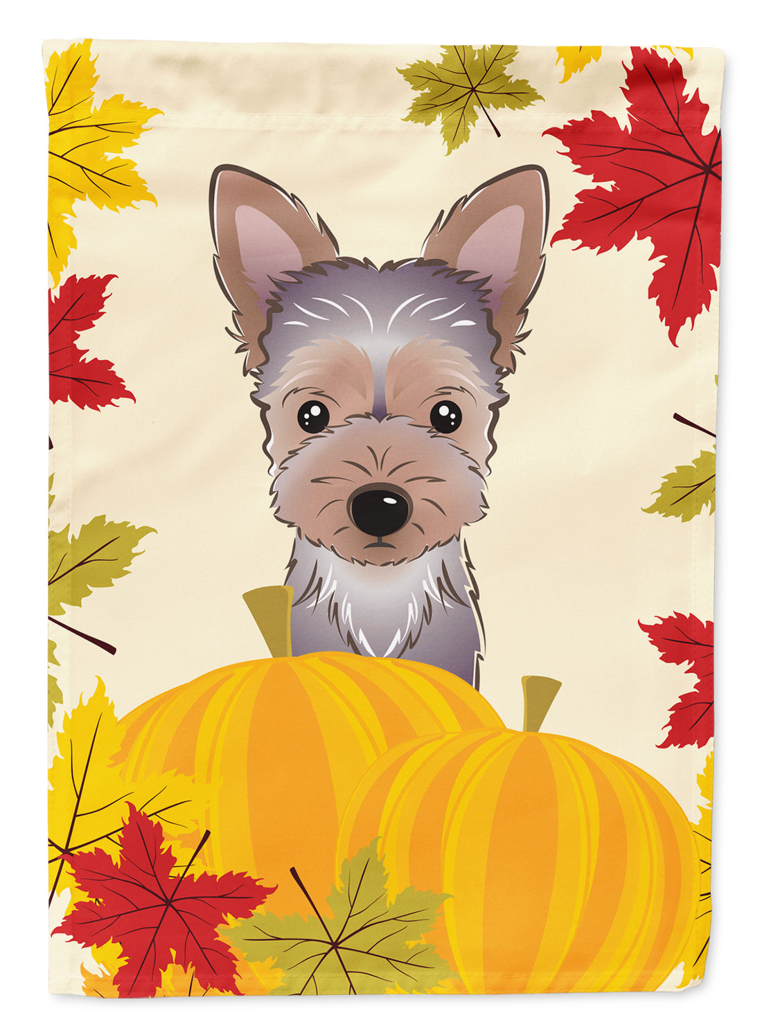 Yorkie Puppy Thanksgiving Flag Canvas House Size BB2038CHF by Caroline's Treasures
