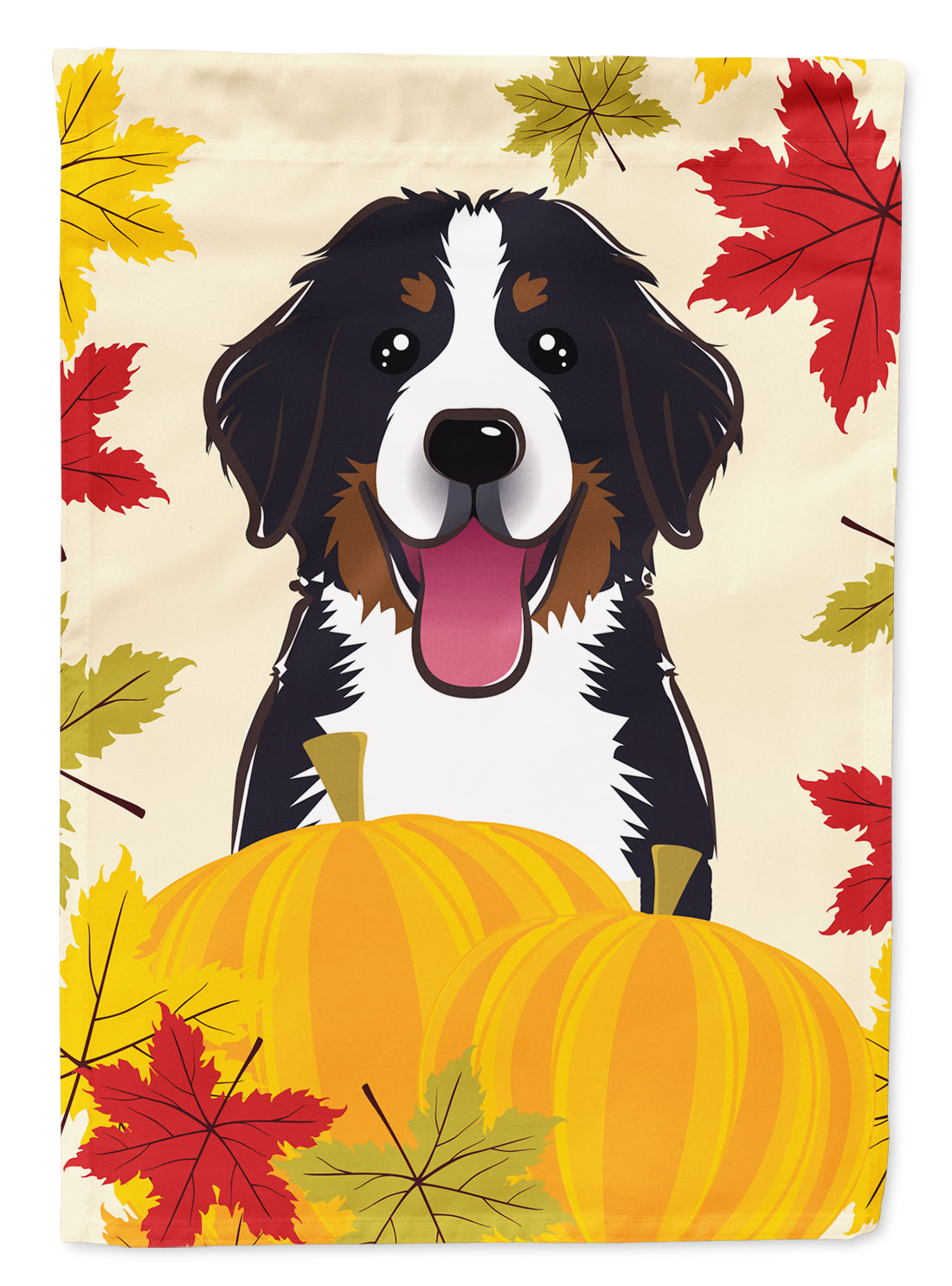 Buy this Bernese Mountain Dog Thanksgiving Flag Canvas House Size BB2043CHF