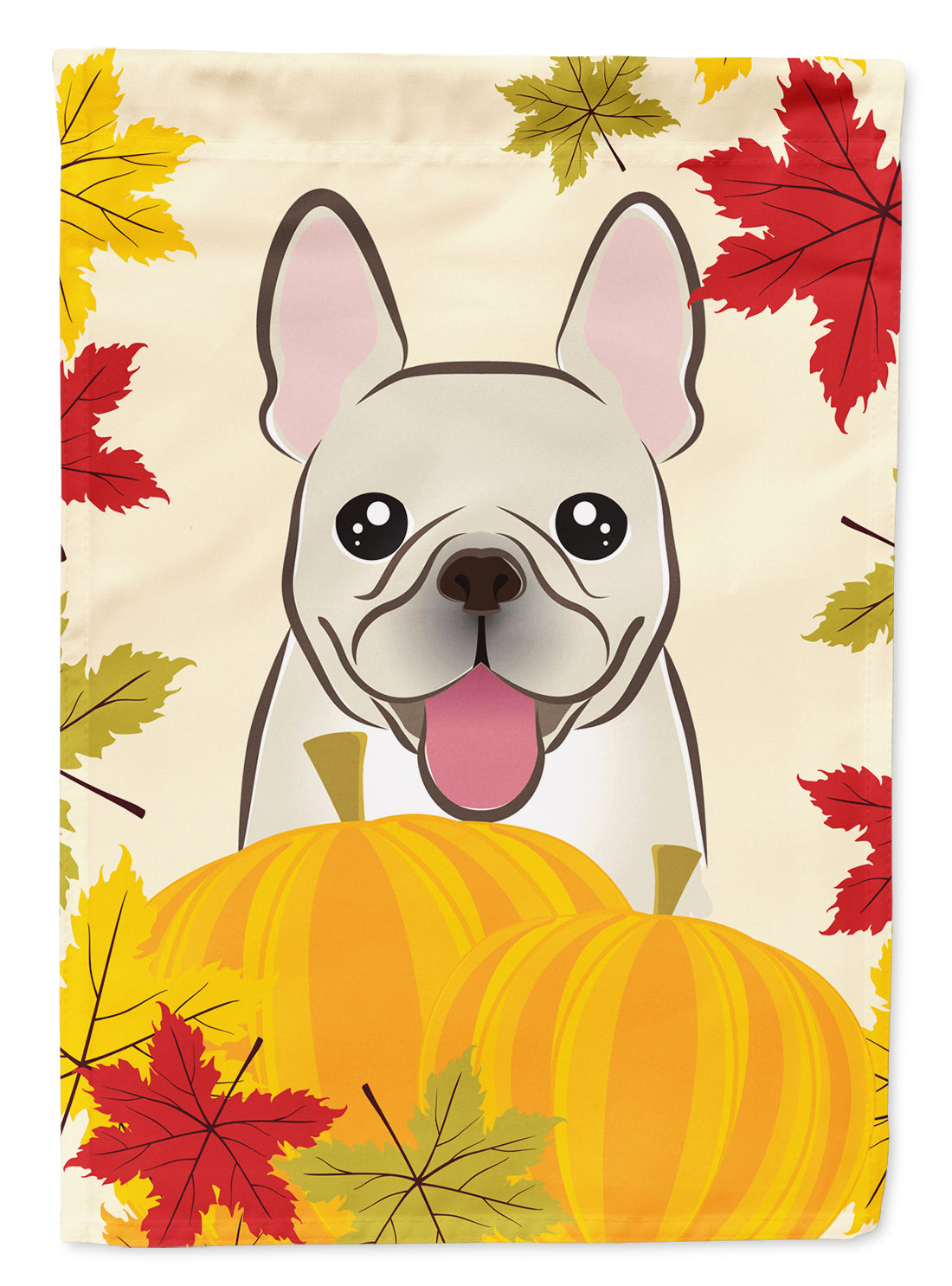 French Bulldog Thanksgiving Flag Canvas House Size by Caroline's Treasures