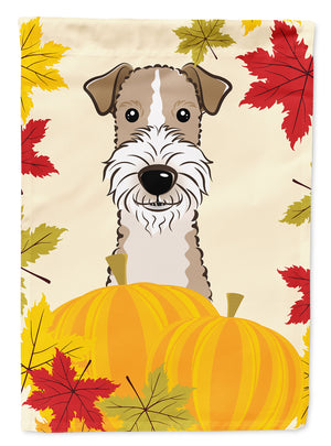 Buy this Wire Haired Fox Terrier Thanksgiving Flag Canvas House Size BB2053CHF