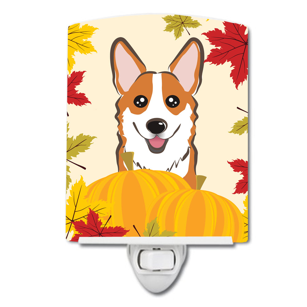 Red Corgi Thanksgiving Ceramic Night Light BB2060CNL by Caroline's Treasures