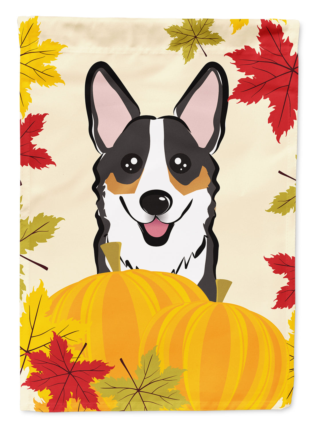 Tricolor Corgi Thanksgiving Flag Canvas House Size BB2061CHF by Caroline's Treasures
