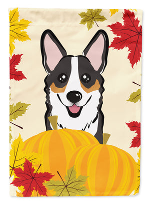 Buy this Tricolor Corgi Thanksgiving Flag Canvas House Size BB2061CHF