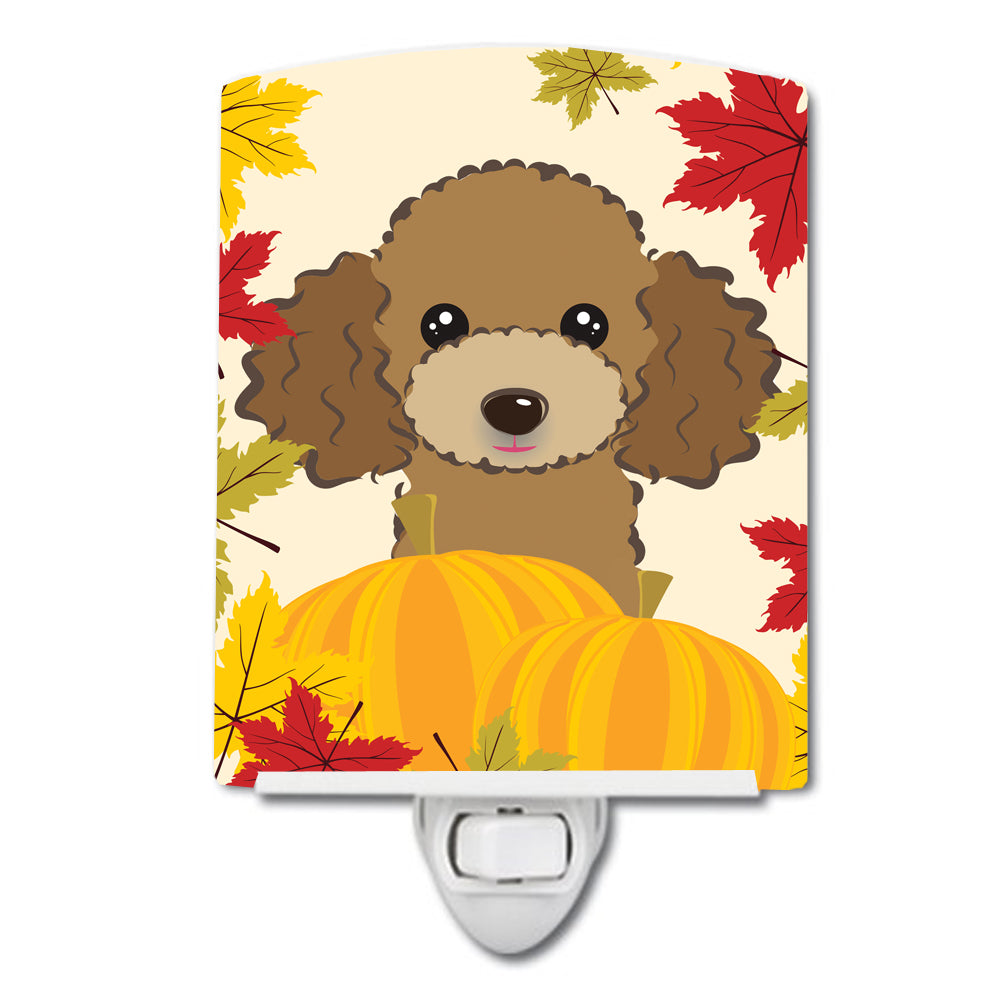 Chocolate Brown Poodle Thanksgiving Ceramic Night Light BB2062CNL by Caroline's Treasures