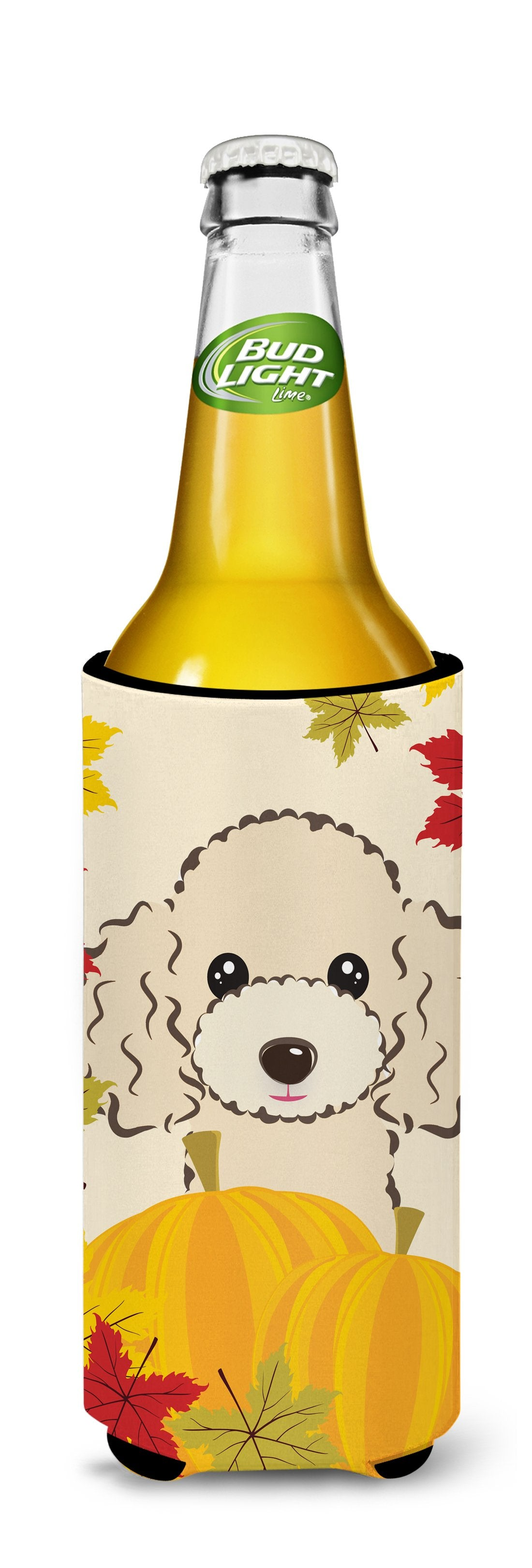 Buff Poodle Thanksgiving Michelob Ultra beverage Insulator for slim cans BB2064MUK by Caroline's Treasures