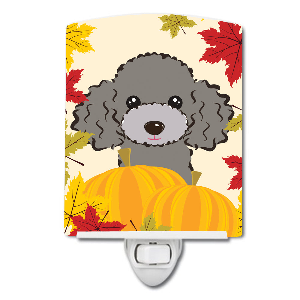 Silver Gray Poodle Thanksgiving Ceramic Night Light BB2065CNL by Caroline's Treasures