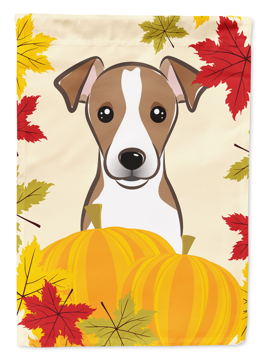Jack Russell Terrier Thanksgiving Flag Canvas House Size BB2066CHF by Caroline's Treasures