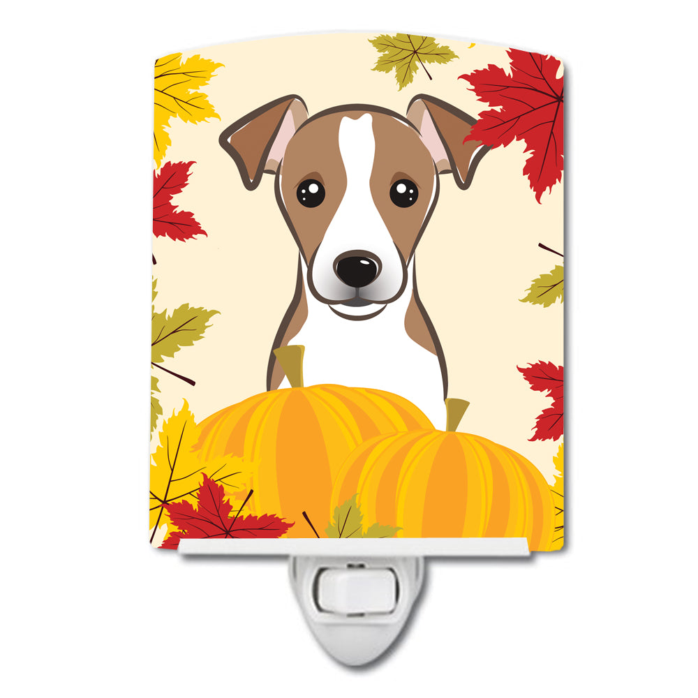 Jack Russell Terrier Thanksgiving Ceramic Night Light BB2066CNL by Caroline's Treasures