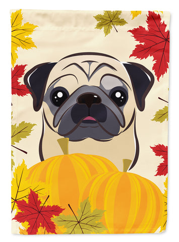 Buy this Fawn Pug Thanksgiving Flag Canvas House Size BB2068CHF