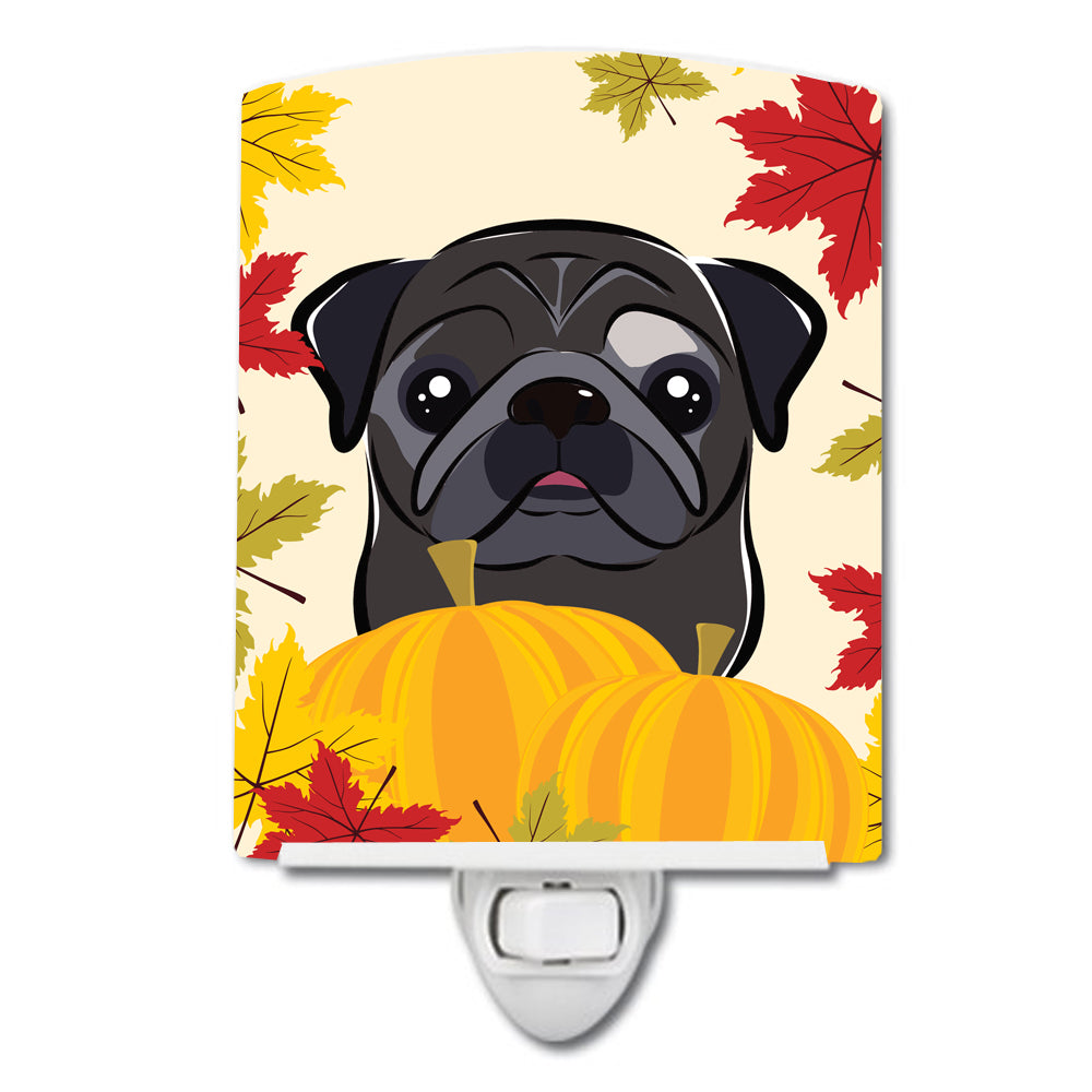 Black Pug Thanksgiving Ceramic Night Light BB2069CNL by Caroline's Treasures