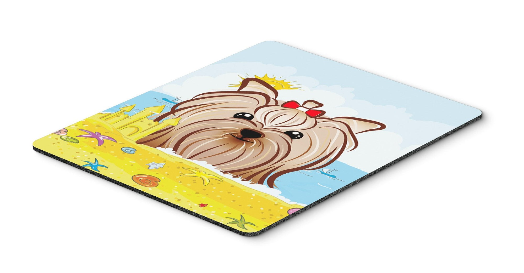 Yorkie Yorkshire Terrier Summer Beach Mouse Pad, Hot Pad or Trivet BB2072MP by Caroline's Treasures