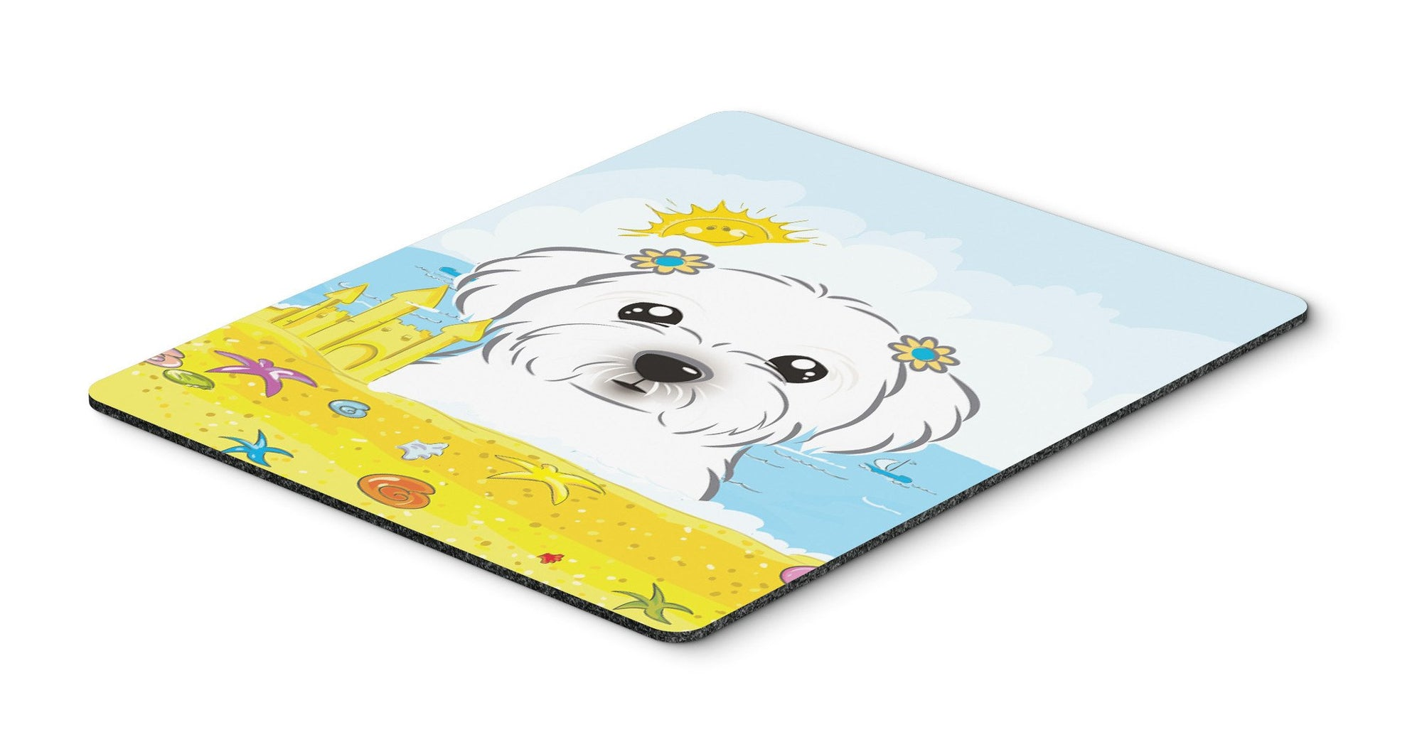 Maltese Summer Beach Mouse Pad, Hot Pad or Trivet BB2076MP by Caroline's Treasures