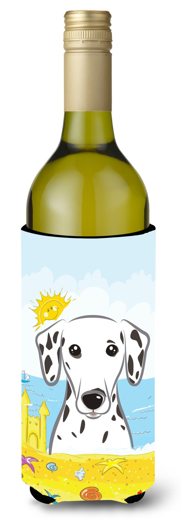 Dalmatian Summer Beach Wine Bottle Beverage Insulator Hugger BB2078LITERK by Caroline's Treasures