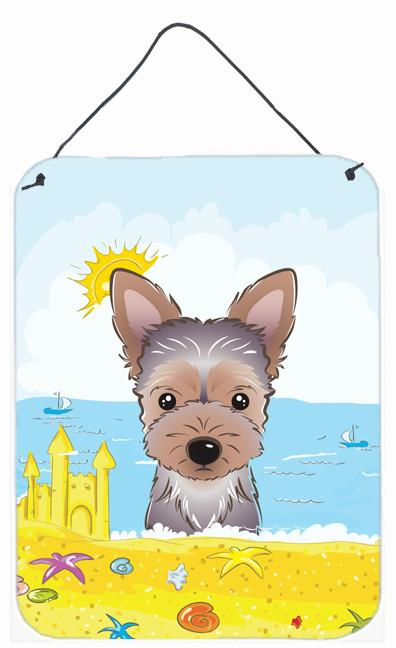 Yorkie Puppy Summer Beach Wall or Door Hanging Prints BB2100DS1216 by Caroline's Treasures