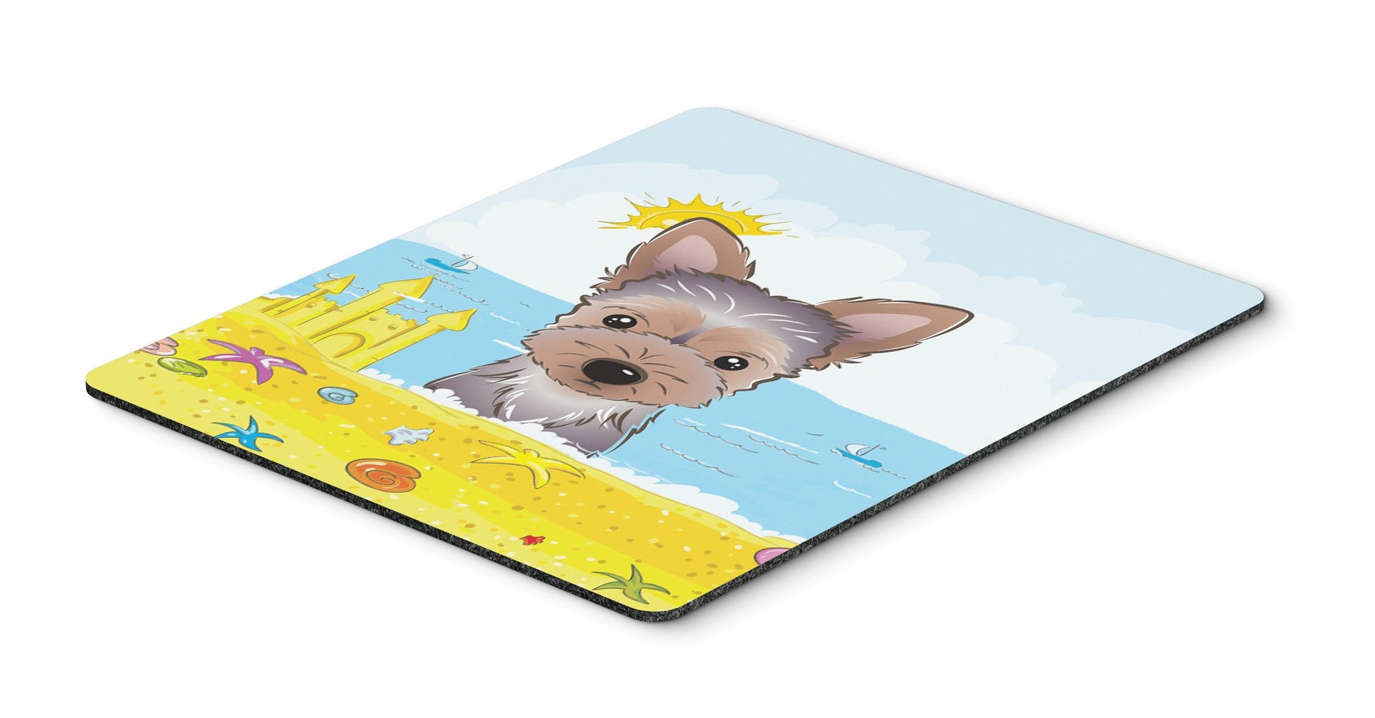 Yorkie Puppy Summer Beach Mouse Pad, Hot Pad or Trivet BB2100MP by Caroline's Treasures