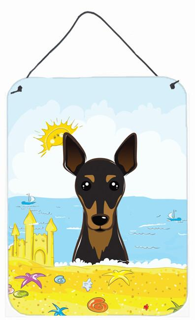 Min Pin Summer Beach Wall or Door Hanging Prints BB2108DS1216 by Caroline's Treasures