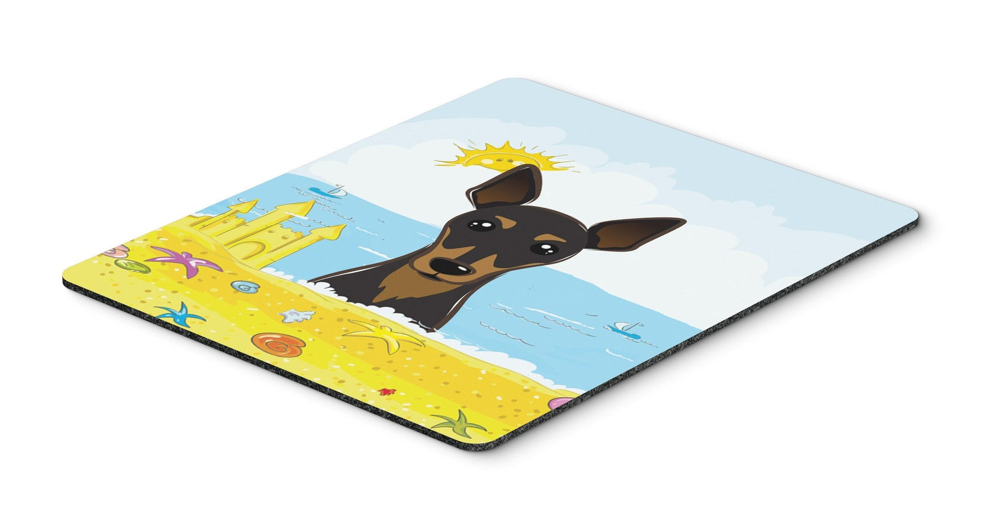 Min Pin Summer Beach Mouse Pad, Hot Pad or Trivet BB2108MP by Caroline's Treasures