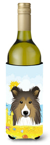Sheltie Summer Beach Wine Bottle Beverage Insulator Hugger BB2110LITERK by Caroline's Treasures