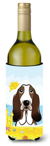 Basset Hound Summer Beach Wine Bottle Beverage Insulator Hugger BB2111LITERK by Caroline's Treasures
