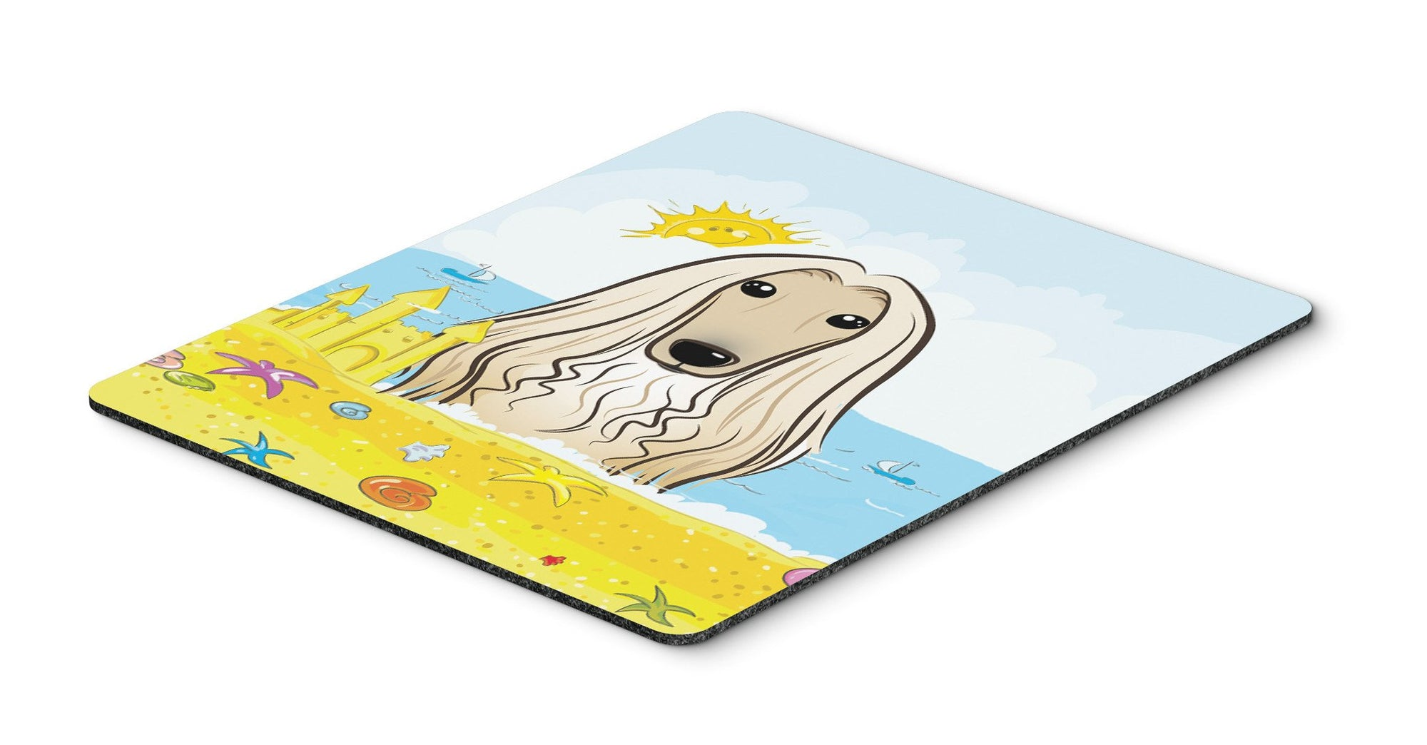Afghan Hound Summer Beach Mouse Pad, Hot Pad or Trivet BB2112MP by Caroline's Treasures