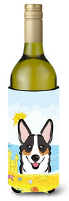 Tricolor Corgi Summer Beach Wine Bottle Beverage Insulator Hugger BB2123LITERK by Caroline's Treasures