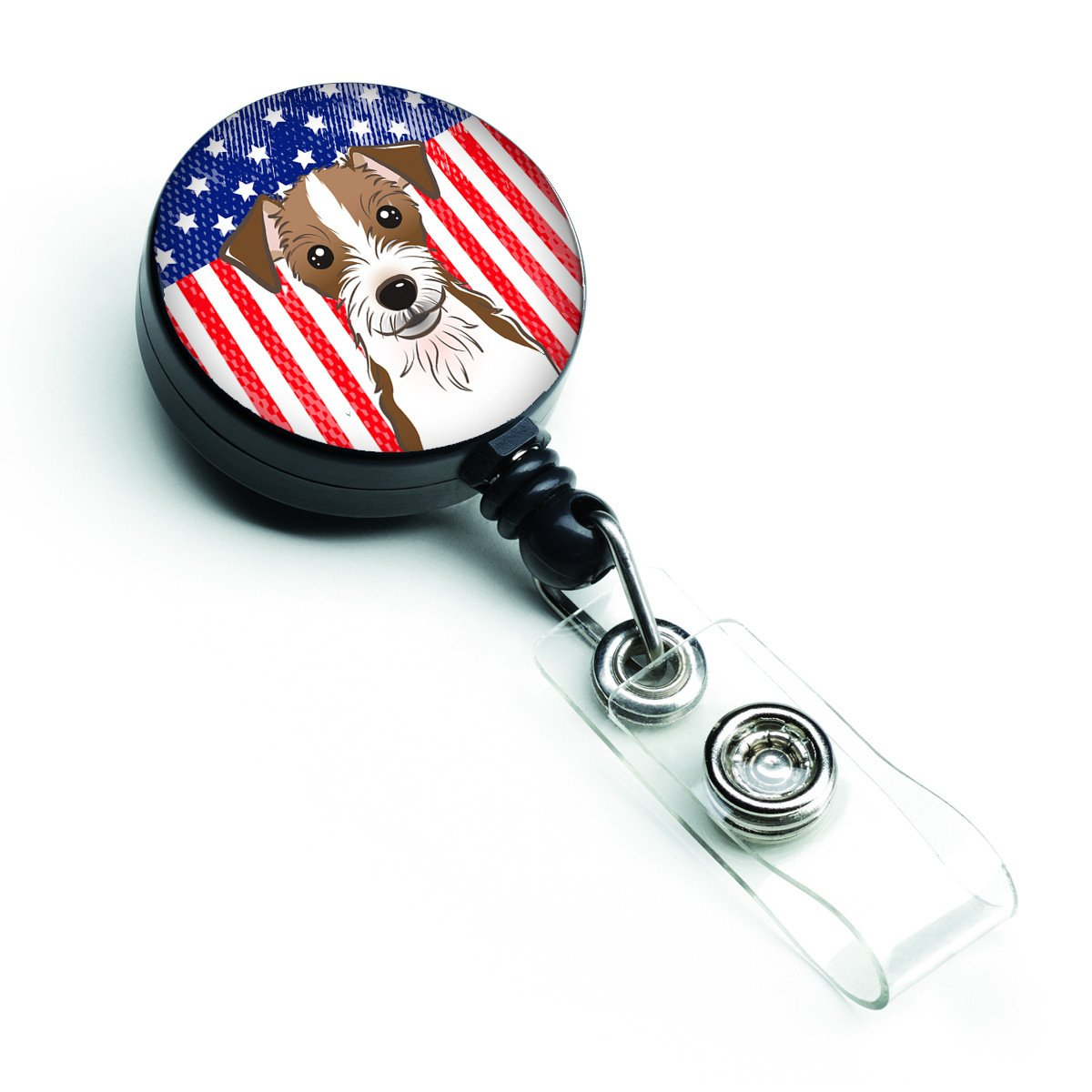American Flag and Jack Russell Terrier Retractable Badge Reel BB2132BR by Caroline's Treasures