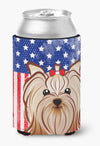 American Flag and Yorkie Yorkishire Terrier Can or Bottle Hugger BB2134CC by Caroline's Treasures