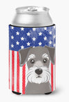 American Flag and Schnauzer Can or Bottle Hugger BB2136CC by Caroline's Treasures