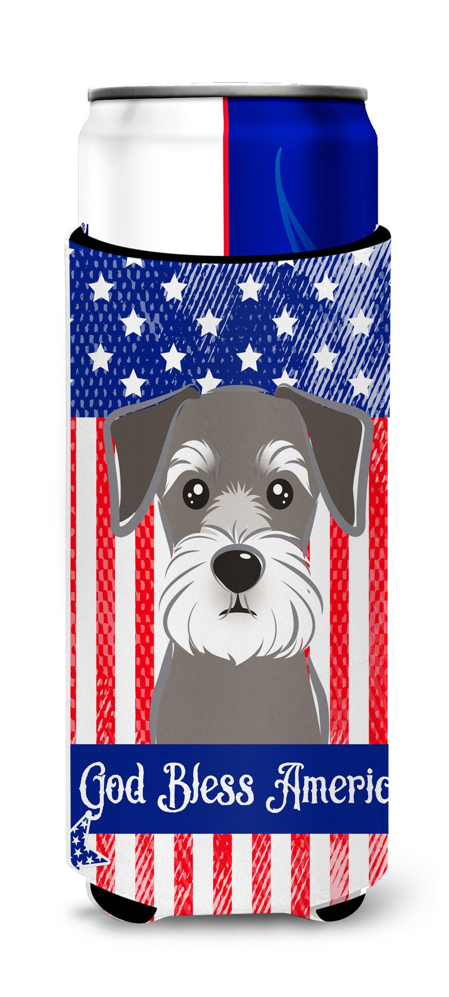 Schnauzer Michelob Ultra Beverage Insulator for slim cans BB2136MUK by Caroline's Treasures