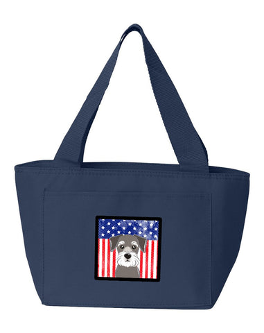 Buy this American Flag and Schnauzer Lunch Bag BB2136NA-8808