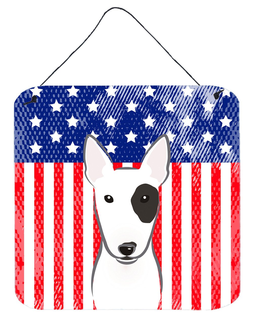 American Flag and Bull Terrier Wall or Door Hanging Prints BB2139DS66 - the-store.com