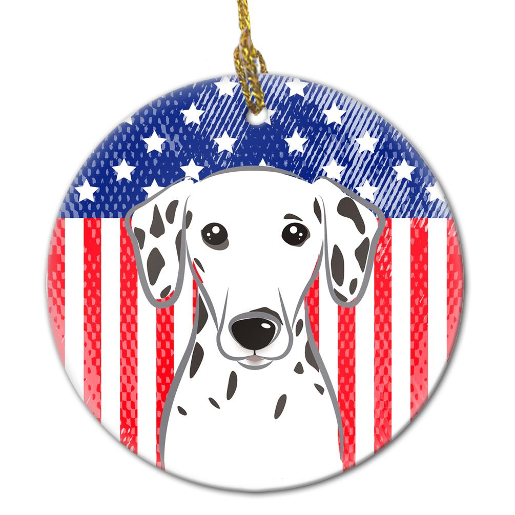 American Flag and Dalmatian Ceramic Ornament BB2140CO1 by Caroline's Treasures