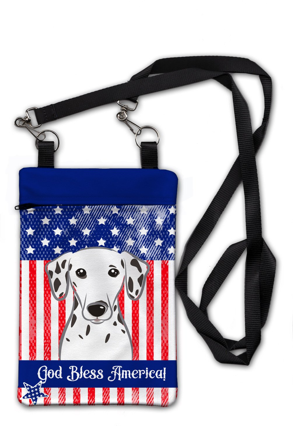 American Flag and Dalmatian Crossbody Bag Purse BB2140OBDY by Caroline's Treasures