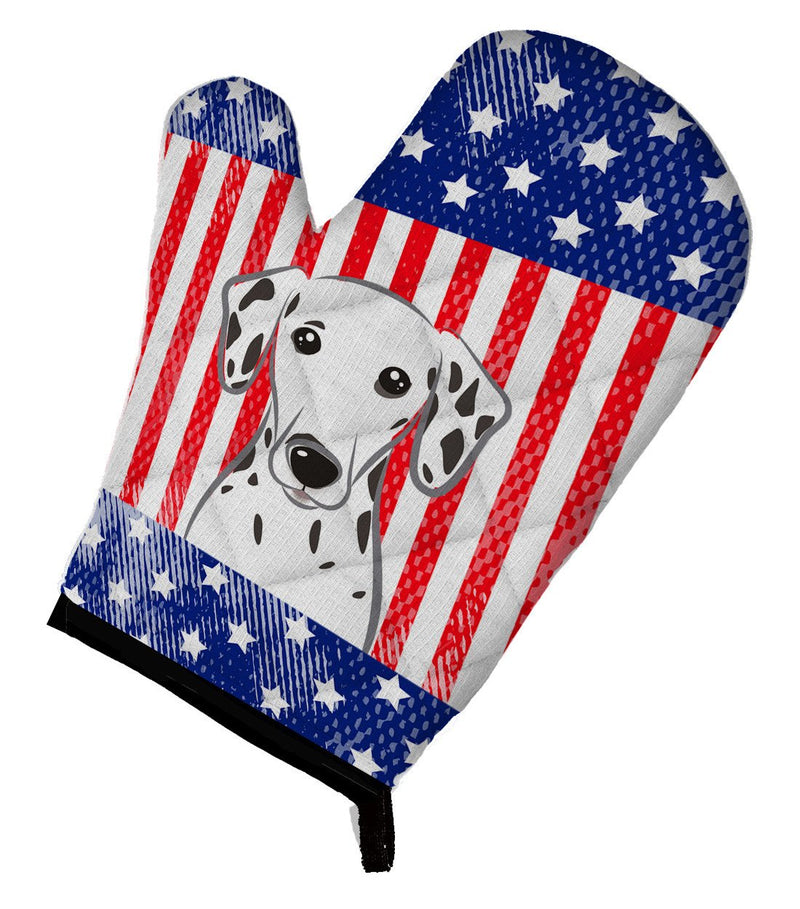 American Flag and Dalmatian Oven Mitt BB2140OVMT - the-store.com