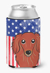 Buy this American Flag and Longhair Red Dachshund Can or Bottle Hugger BB2144CC
