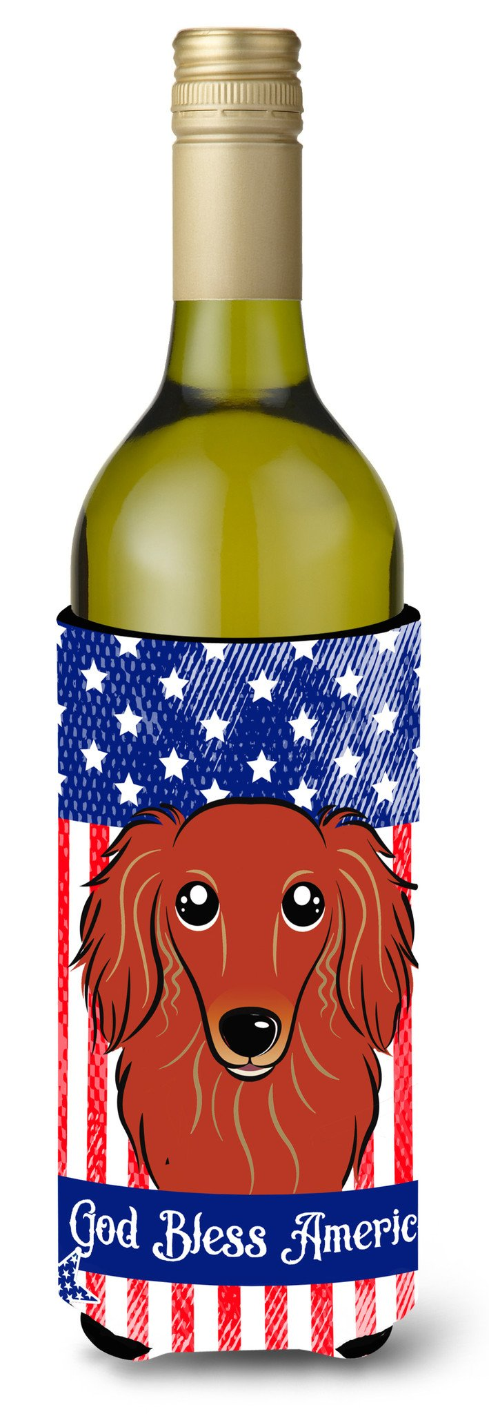 Longhair Red Dachshund Wine Bottle Beverage Insulator Hugger BB2144LITERK by Caroline's Treasures