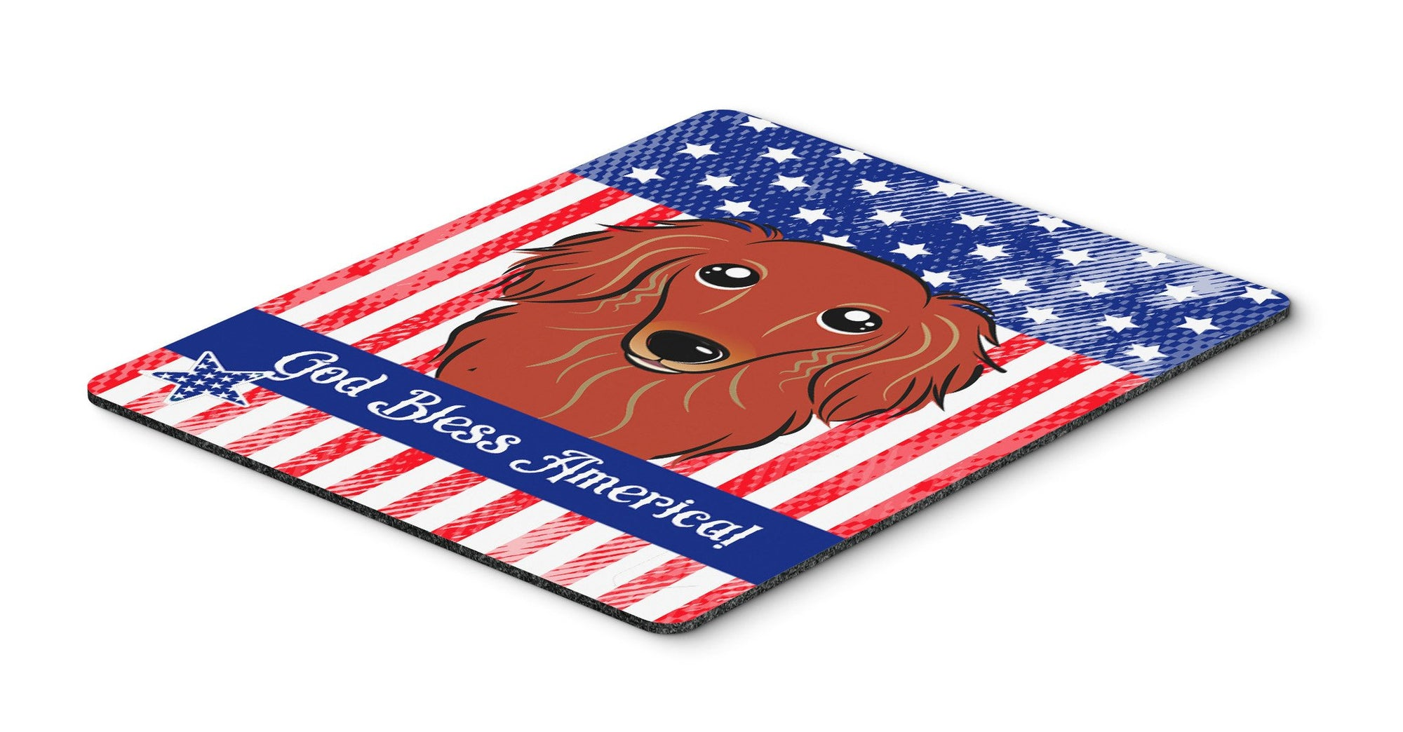 Longhair Red Dachshund Mouse Pad, Hot Pad or Trivet BB2144MP by Caroline's Treasures