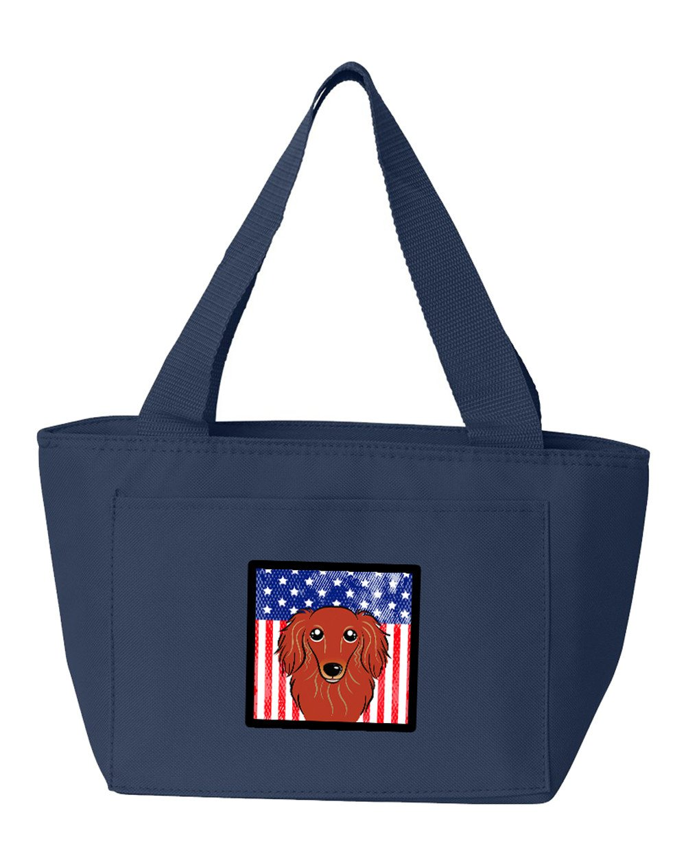 American Flag and Longhair Red Dachshund Lunch Bag BB2144NA-8808 by Caroline's Treasures