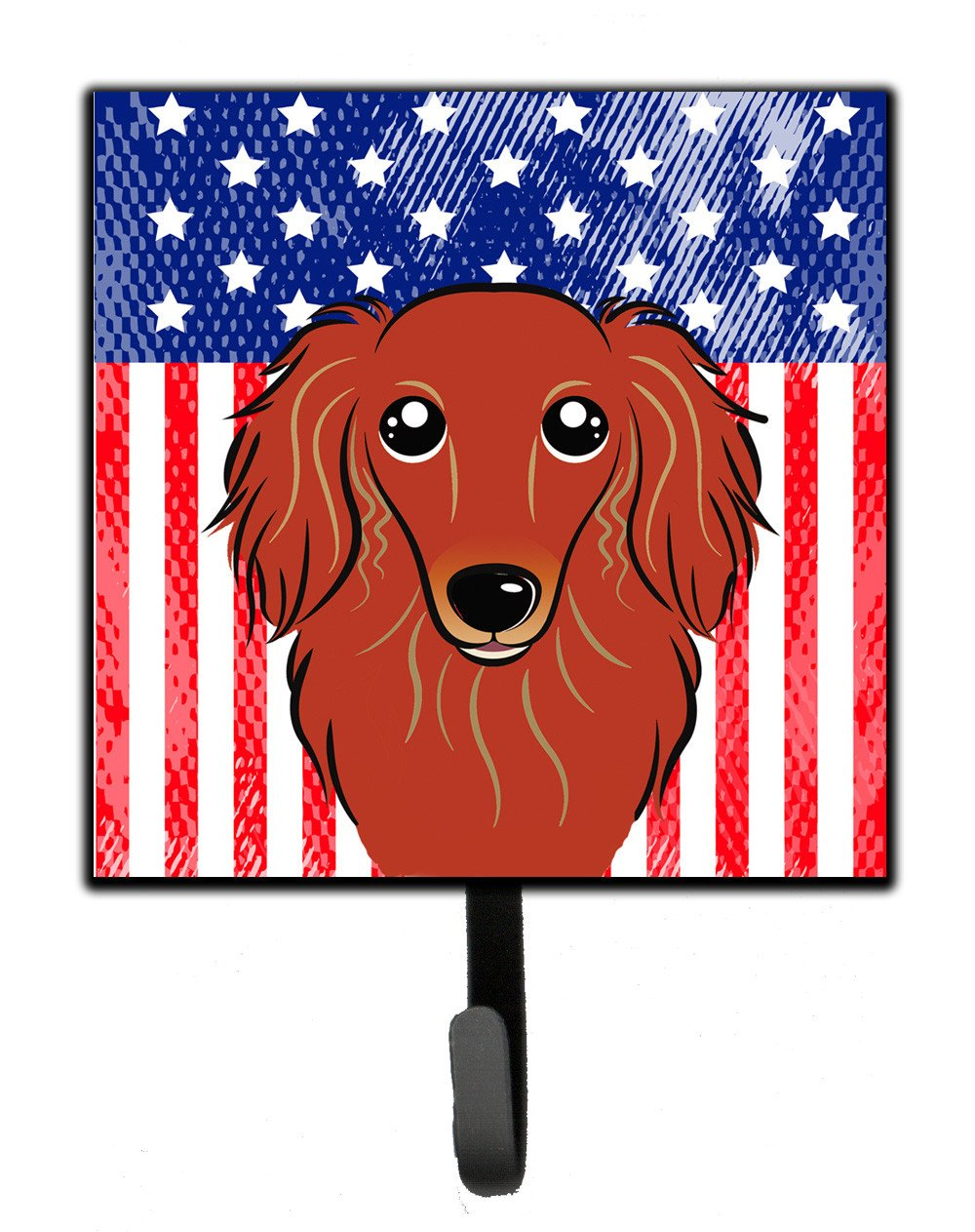 American Flag and Longhair Red Dachshund Leash or Key Holder BB2144SH4 by Caroline's Treasures