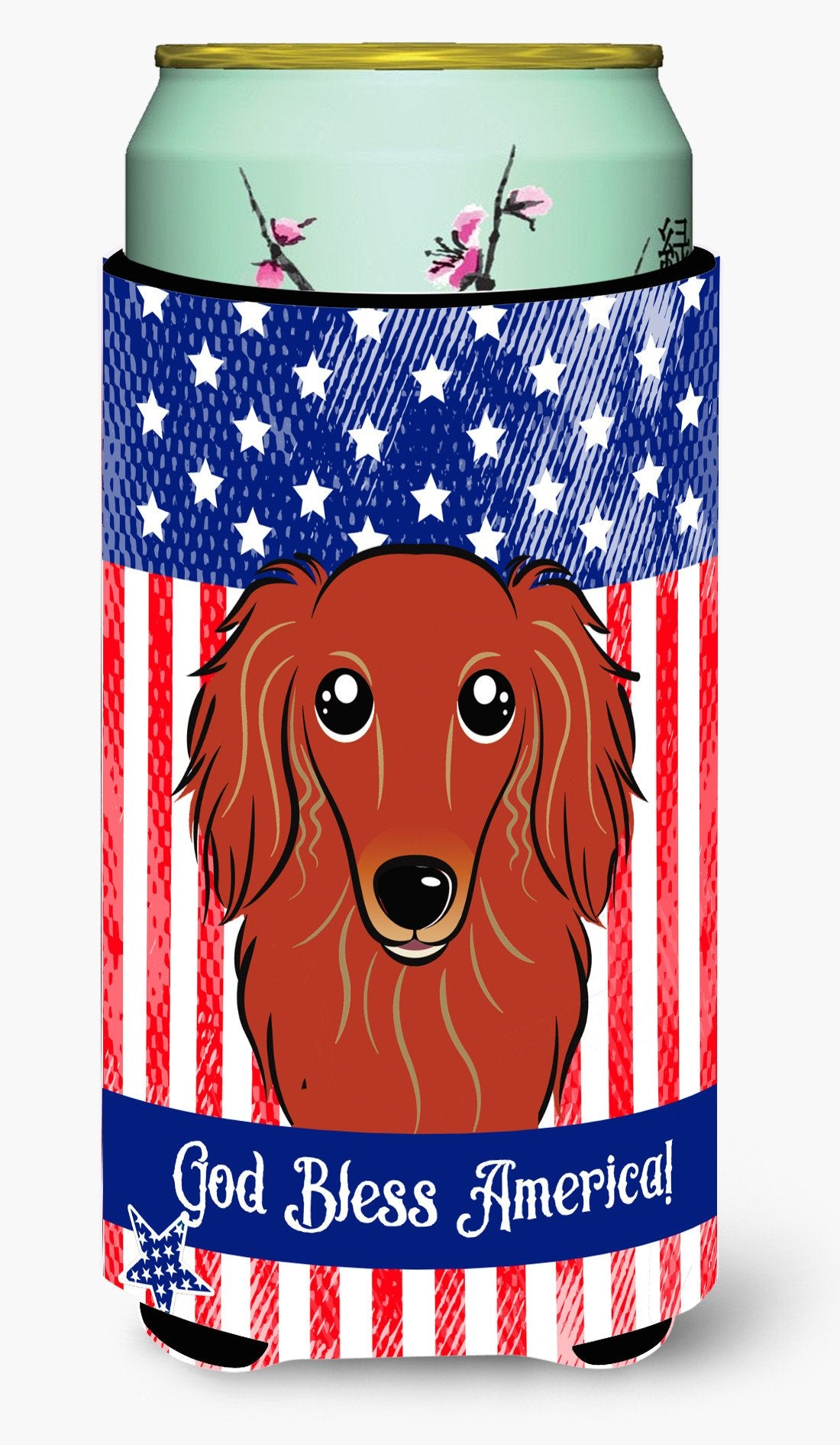 Longhair Red Dachshund Tall Boy Beverage Insulator  Hugger BB2144TBC by Caroline's Treasures