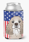 Buy this American Flag and Cocker Spaniel Can or Bottle Hugger BB2146CC