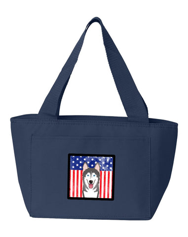 Buy this American Flag and Alaskan Malamute Lunch Bag BB2148NA-8808