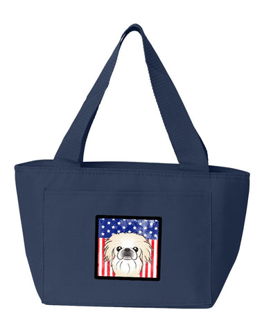 Buy this American Flag and Pekingese Lunch Bag BB2151NA-8808
