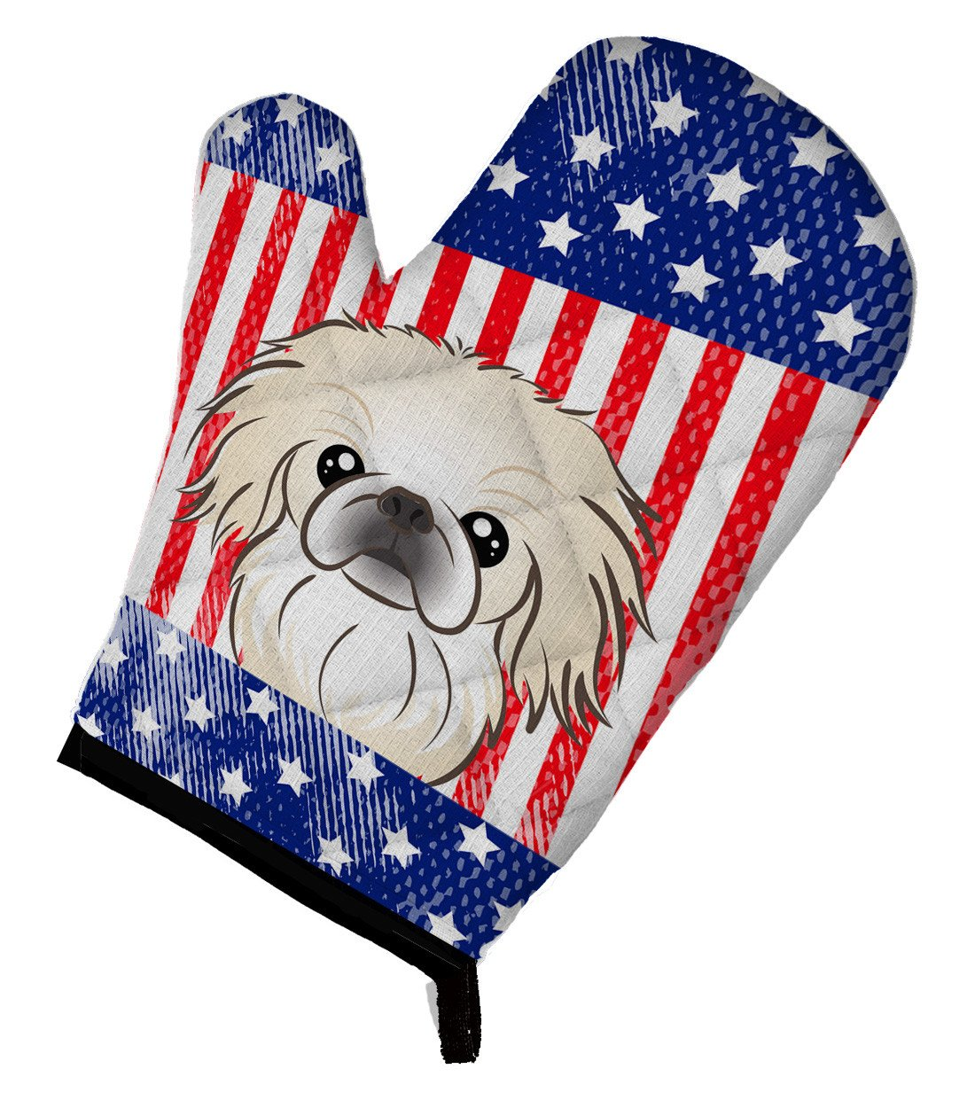 American Flag and Pekingese Oven Mitt BB2151OVMT - the-store.com