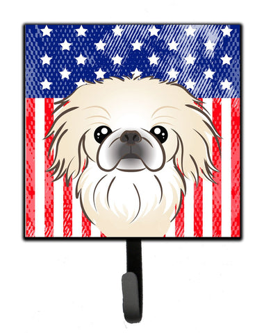 Buy this American Flag and Pekingese Leash or Key Holder BB2151SH4