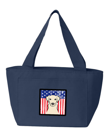 Buy this American Flag and Yellow Labrador Lunch Bag BB2152NA-8808