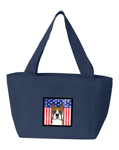Buy this American Flag and Boxer Lunch Bag BB2153NA-8808